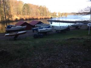 Båtarna står på kö inför sjösättning